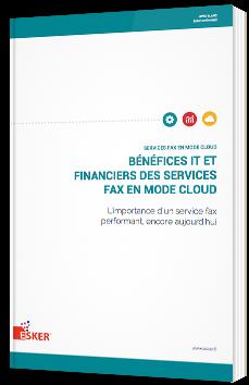 Bénéfices IT et financiers des services Fax en mode Cloud