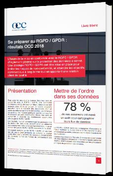 Se préparer au RGPD / GPDR : résultats OCC 2018