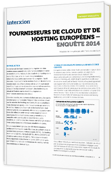 Fournisseurs de Cloud et Hosting européens - Enquête 2014