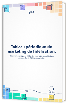 Tableau périodique de marketing de fidélisation