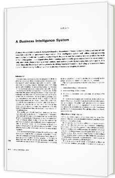 A Business Intelligence System