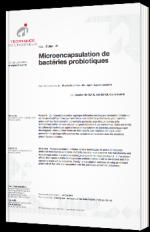 Microencapsulation de bactéries probiotiques