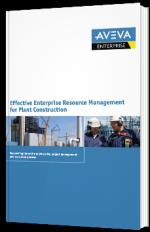 Effective enterprise resource management for plant construction