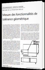 Mesurer des fonctionnalités de tolérance géométrique