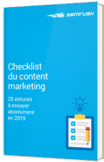Checklist du Content Marketing