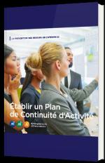 Etablir un plan de continuité d'activité