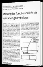 Mesure des fonctionnalités de tolérance géométrique