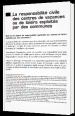 La responsabilité civile des centres de vacances ou de loisirs exploités par des communes