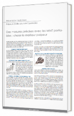Des mesures précises avec les MMT portables : choisir le meilleur palpeur