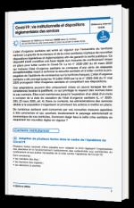 Covid-19 : vie institutionnelle et dispositions réglementaires des services